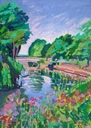 By the River by Leila Barton -  sized 20x28 inches. Available from Whitewall Galleries
